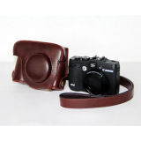 Sale Protective Top Pu Leather Camera Case Bag Cover With Shoulder Strap For Canon Powershot G15 G16 Camera Not Included Coffee Intl Oem