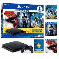 PS4 Slim 500GB Hits Bundle Console with 3 Games + 3 Months PSN Plus Membership + 15 Months Local Sony Warranty