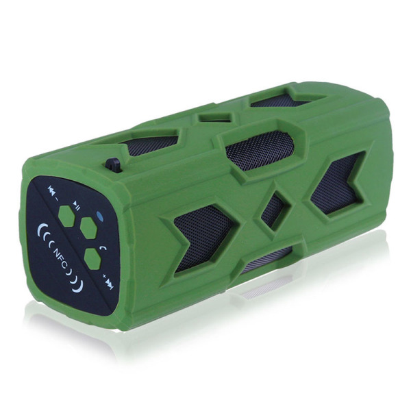 PT-390 Waterproof Wireless Bluetooth Speaker NFC Subwoofer (Green) - Intl Singapore