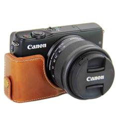 Price Pu Camera Half Body Bottom Case Cover For Canon Eos M10 Intl Online China