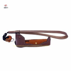 Get The Best Price For Pu Leather Camera Bottom Cover Half Body Set Bag For Camera Penf Pen F With Hand Strap Intl