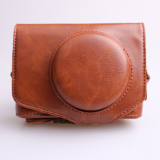 Sale Pu Leather Camera Case For Canon Powershot Sx720Hs Brown Oem Wholesaler