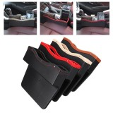 Buy Pu Leather Car Seat Gap Slit Storage Bag Box Car Seat Pocket Organizer Beige Intl Online China