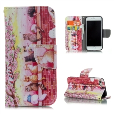 Buy Pu Leather Case Flip Stand Cover For Iphone 7 Cats Above Wall Cheap China