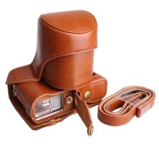 Cheap Pu Leather Case For Xa3 X A3 16 50Mm Lens Camera Bag Cover Battery Bottom Opening Intl Online
