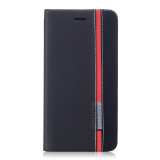 Pu Leather Flip Case Cover For Asus Zenfone 3 Ze552Kl 5 5 Inch Black Red Lower Price