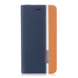Great Deal Pu Leather Flip Case Cover For Asus Zenfone 3 Ze552Kl 5 5 Inch Dark Blue Orange