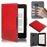 Price Pu Leather Folio Case Cover For Amazon Kindle Paperwhite Red Not Specified