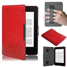 Purchase Pu Leather Folio Case Cover For Amazon Kindle Paperwhite Red