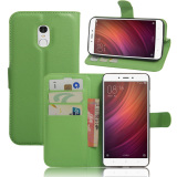 Pu Leather Wallet Case Cover For Xiaomi Redmi Note 4 Green Intl Sale