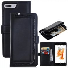 Retail Price Pu Leather Wallet Case Cover Pouch Bag For Apple Iphone 7 Plus Black Intl