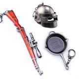 Buy Pubg Set Zinc Alloy Playerunknown S Battlegrounds Game Accessories Pubg Game Based Pan Helmet Keychain Ring Backpack Hang Decorations Accessories Intl Oem