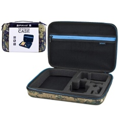 Top 10 Puluz Camouflage Pattern Waterproof Carrying And Travel Case For Gopro Hero5 4 3 3 2 1 Puluz U6000 And Accessories Large Size 32Cm X 22Cm X 7Cm Intl