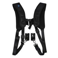 Latest Puluz Durable Soft Professional K Pattern Camera Double Shoulder Strap Pu6002 Black Intl