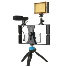 Buy Puluz Smartphone Video Rig Led Studio Light Video Shotgun Microphone Mini Tripod Mount Kits With Cold Shoe Tripod Head For Iphone Galaxy Huawei Xiaomi Htc Lg Google And Other Smartphones Intl Online China
