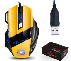 Sale Q Shop Programable 7 Button Adjustable 2400 Dpi Led Wired Optical Gaming Mouse For Laptop Pc Yellow Intl Oem Cheap