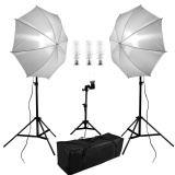 Buy Qf 600W 5500K Photo Studio Continuous Lighting Umbrella Kit With 33 84Cm White Umbrella 200Cm Adjustable Light Stands 50Cm Table Top Light Stand Light Holder 38W Photo Studio Light Bulbs Carry Bag Set For Portrait Photography Intl Cheap China