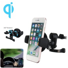 Brand New Qi Wireless Car Charger Holder Air Vent Mount Dock For Mobile Cell Phone Samsung Intl