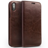 Sale Qialino Handmade Genuine Leather Wallet Card Slot Bag Case Luxury Ultra Slim Flip Cover For Iphone X 5 8Inch Intl Qialino Original
