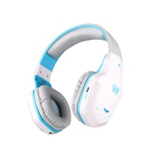 qoovan Wireless Bluetooth 4.1 Stereo Gaming Headphone Headset With Mic(BlueWhite) - intl
