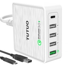 Best Deal Qualcomm Quick Charge 3 Usb C Travel Wall Charger For Iphone 6 7 Xiaomi W Mirco Usb Cable Intl