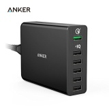 Sale Quick Charge 3 Anker A2063 60W 6 Port Usb Charger Quick Charge 2 Compatible Powerport 6 With Poweriq For Iphone Ipad Galaxy Intl On Singapore