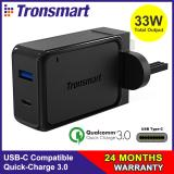 Low Cost Quick Charge 3 Usb C Tronsmart 33W Dual Usb Wall Charger With Quick Charge 3 Usb C For S8 S8 Lg G5 G6 Iphones Htc 10 Nexus 6P Nexus 5X And More Sg 3Pin Plug W2Ptu