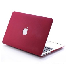 Quicksand PC Hard Shell + US Version Keyboard Film for Macbook Air 13.3 Inch - Wine Red - intl