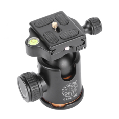 Best Qzsd Q02 Camera Tripod Ball Head With Quick Release Plate 1 4 Scr*w Intl
