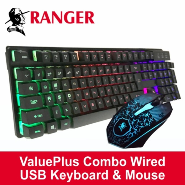 Ranger ValuePlus Combo Wired USB Keyboard & Mouse(Best work-from-home companion and gamers too) Singapore