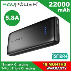 Price Comparisons For Ravpower Ace 22000Mah 3 Port Output Powerbank With Ismart 2