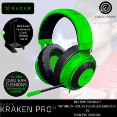 Review Razer Kraken Pro V2 Analog Gaming Headset Oval Ear Cushions With Free Razer Headphone Stand Singapore