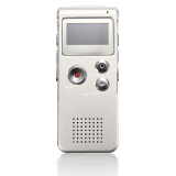 Recent Rechargeable 8Gb Digital Voice Recorder Audio Dictaphone Mp3 Player Silver