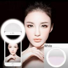 Rechargeable Selfie Portable Fill Light LED Ring Camera Photography For IPhone Android White - intl