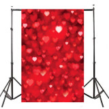 Price Red Heart Wedding Photography Backdrop Photo Background Studio Prop 5X7Ft New Oem Original