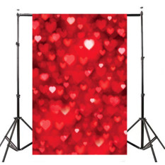 Top 10 Red Heart Wedding Photography Backdrop Photo Background Studio Prop 5X7Ft New
