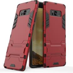 (Red) Iron Man Smart Stand Casing Cover for Samsung Galaxy Note 8