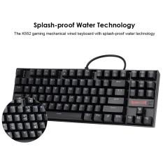 2d2e52aab0c REDRAGON K552 Gaming Mechanical Wired Keyboard Splash-proof Water Red Backlight  Keyboard 87 Keys Blue