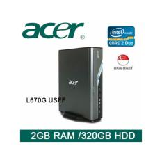 Buy Refurbished Acer Veriton L670G Usff Desktop Core 2 Duo 2Gb Ram 320Gb Hdd Win Vista 1 Month Warranty Acer Cheap