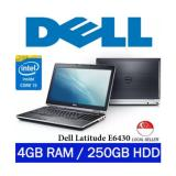Refurbished Dell Latitude E6430 Intel I5 Core 3Rd Gen 4Gb Ram 250Gb Hdd Windows 7 Pro Laptop Black For Sale Online