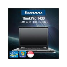 [Refurbished] Lenovo ThinkPad T430 Laptop / Intel Core i5 / 4GB RAM / 500GB HDD / Windows 7 / One Month Warranty