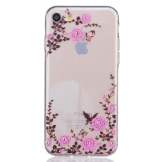 Sale Relief Print Tpu Protective Back Case Cover For Apple Iphone 7 Butterfly And Flower China