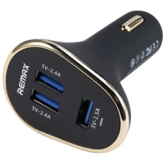Purchase Remax 6 3A 3 Usb Ports Car Charger Black Online