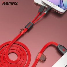 Get The Best Price For Remax Dual Heads Ios Micro Usb Mobile Phone Data Fast Charge Cable 2 1A For Ios Android Phone 100Cm Intl