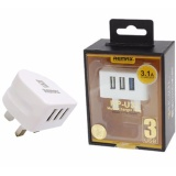 Top 10 Remax Fast Charging 3 Port 3 1A Usb Charger Adapter Intl