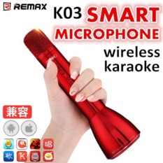 Cheap Remax K03 Smart Microphone Wireless Speaker Professional Recording Studio Karaoke Mic Online