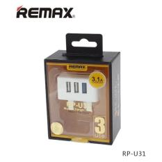 Remax Rp-U31 3 Usb Ports Charger Adaptor Travel 3 Pin By Gxm Gadgets.