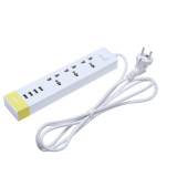 Purchase Remax Ru S2 3 Outlets 4 Usb Ports Charging Adapter Power Socket Eu Plug Yellow