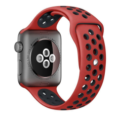New Replacement Silicone Wrist Bracelet Sport Band Strap For Apple Watch Series 2 1 42Mm M L Red Black Intl