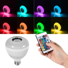 Best Price Rgb Wireless Bluetooth Led Music Playing Light Lamp 24 Keys Controller Intl